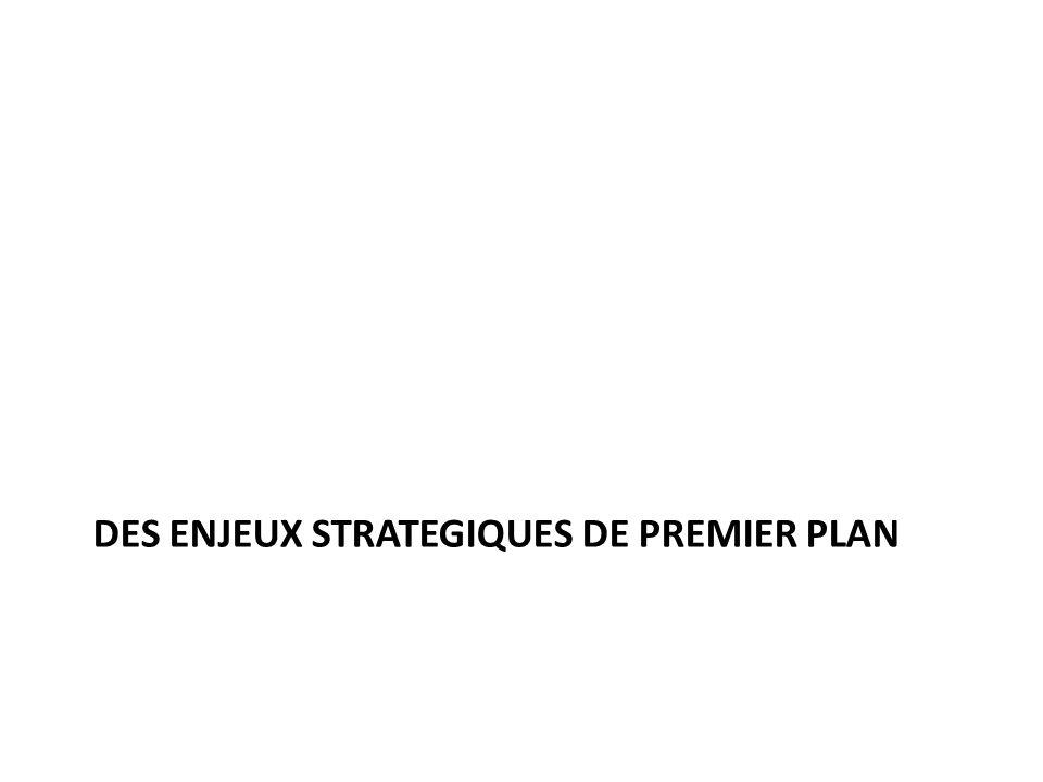 DES ENJEUX STRATEGIQUES DE PREMIER PLAN