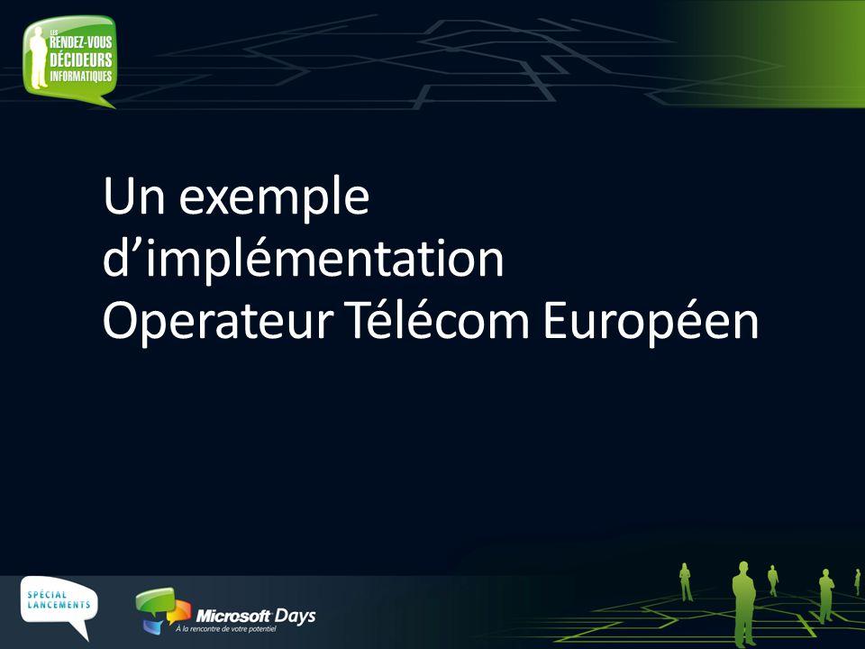 Un exemple dimplémentation Operateur Télécom Européen