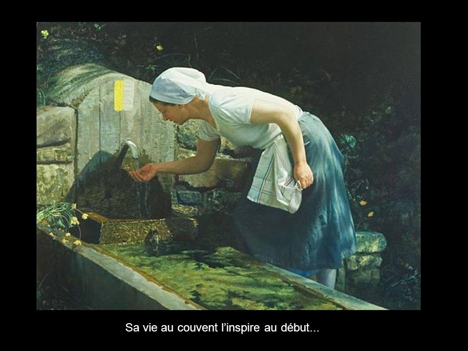 Née en 1947 à Madrid elle devient Nonne Cistercienne, à 23 ans, au Monastère de Sainte Lucie de Zaragoza, et commence demblée à peindre sans jamais av