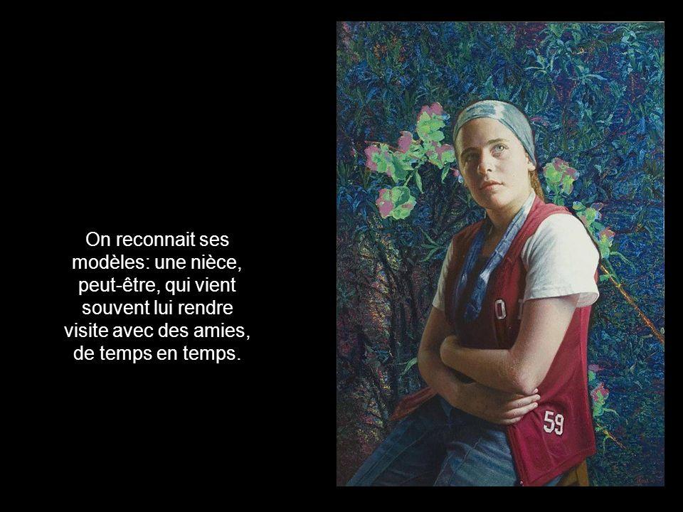 ...mais elle excelle dans les portraits tendres et gracieux quelle affectionne...
