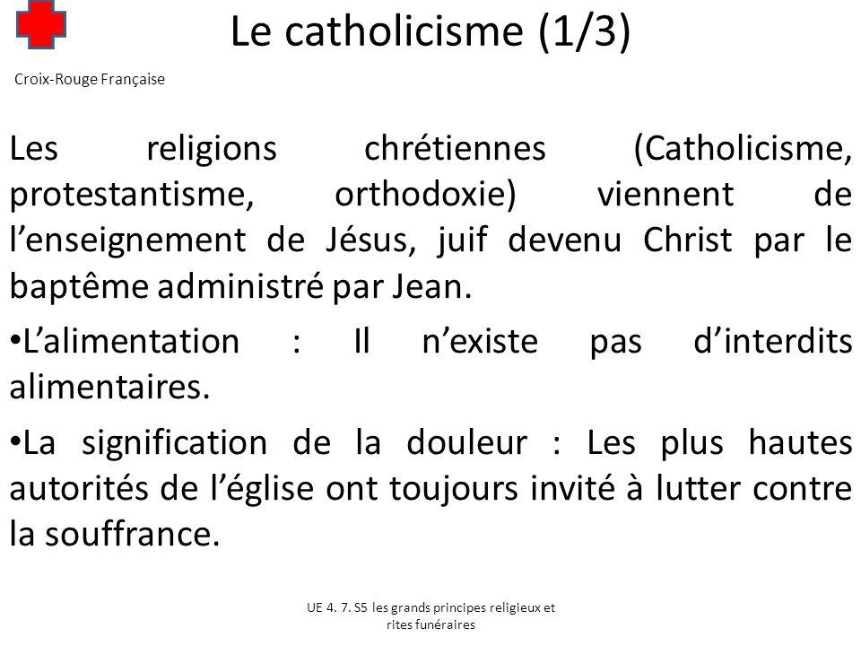 Le catholicisme (2/3) Lattitude des catholiques face à des questions de santé : LInterruption Volontaire de Grossesse et la contraception: lavortement est interdit.