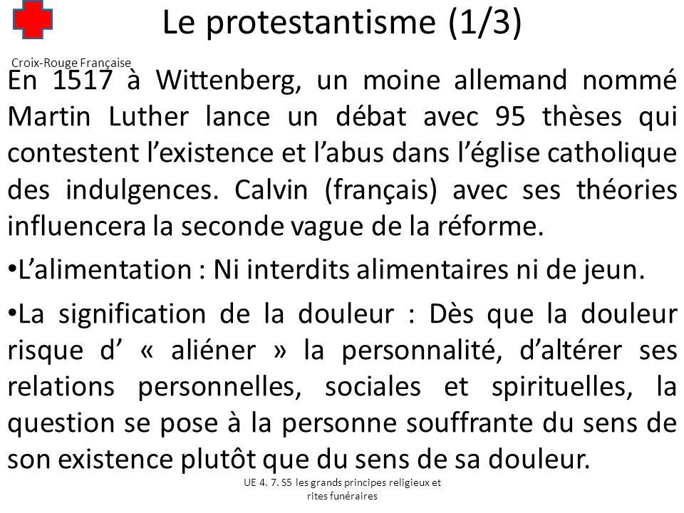 Le protestantisme (2/3) Lattitude des protestants face aux questions de santé : LInterruption Volontaire de Grossesse et la contraception : LIVG relève de la responsabilité personnelle.