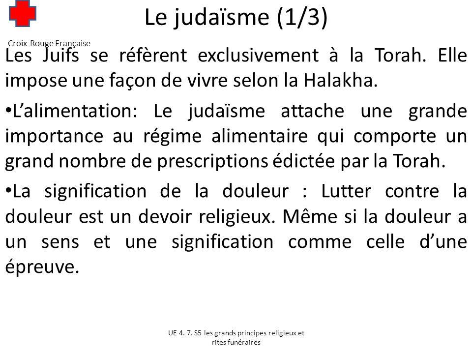 Le judaïsme (2/3) Lattitude du judaïsme face aux questions de santé : LInterruption Volontaire de Grossesse et la contraception: LIVG nest absolument pas exclu avant quatre semaines de grossesse.