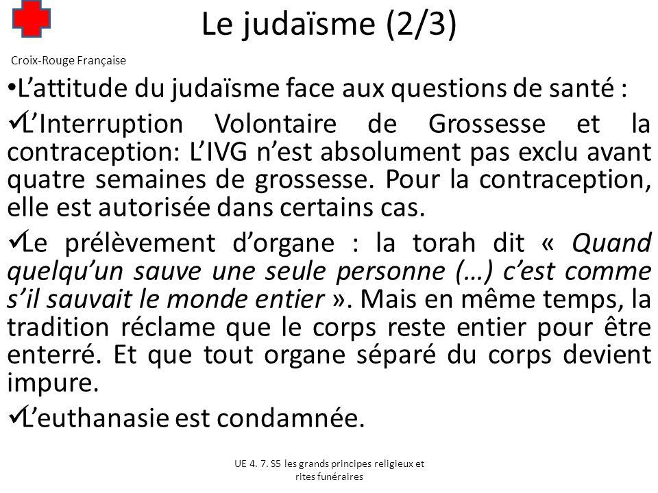 Le judaïsme (3/3) « Celui qui néglige un malade est pour ainsi dire coupable de sa mort ».