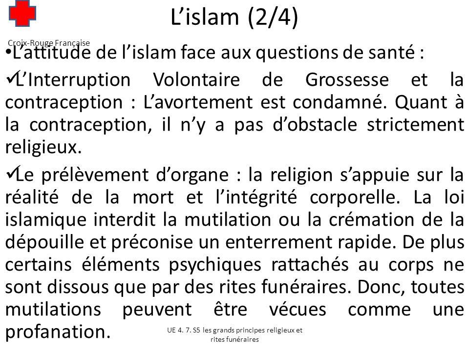 Lislam (3/4) Malgré tout le prélèvement dorgane et le don ne sont pas interdits par les autorités religieuses, ceux-ci sont même autorisés depuis 2004.