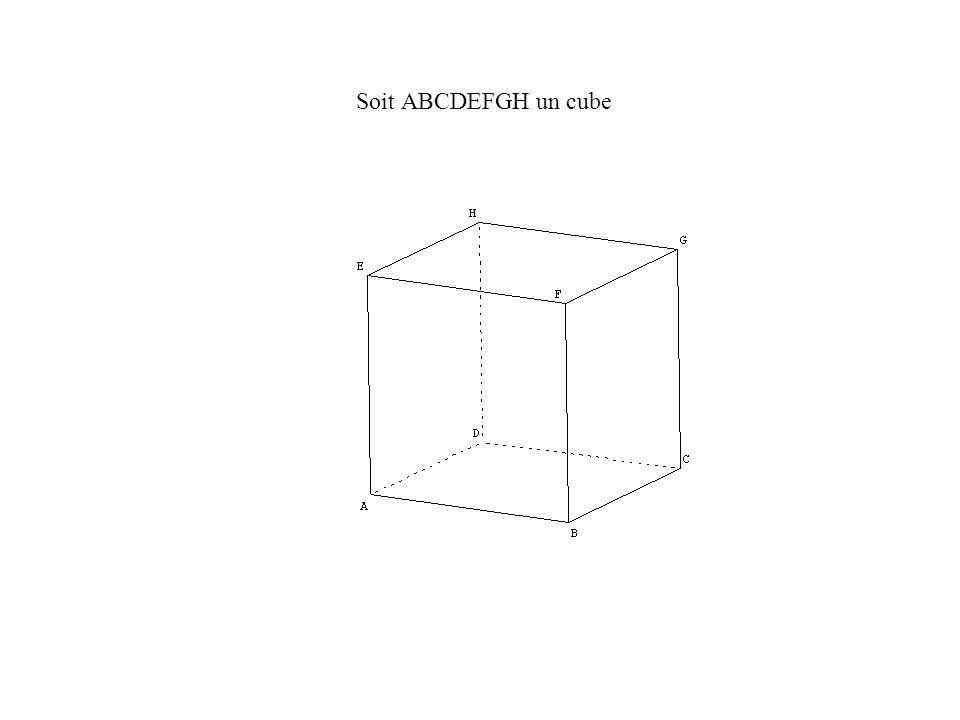 Soit ABCDEFGH un cube