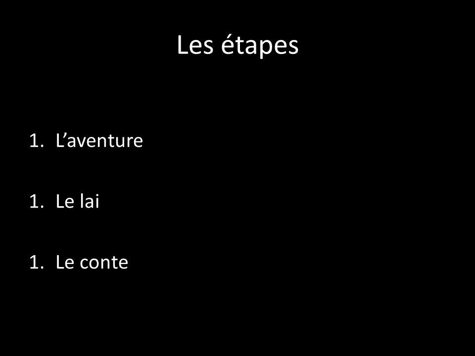 Les étapes 1.Laventure 1.Le lai 1.Le conte