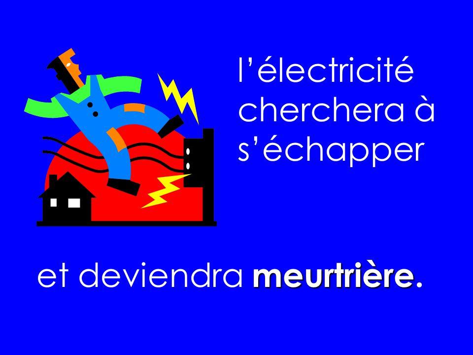 lélectricité cherchera à séchapper meurtrière et deviendra meurtrière.