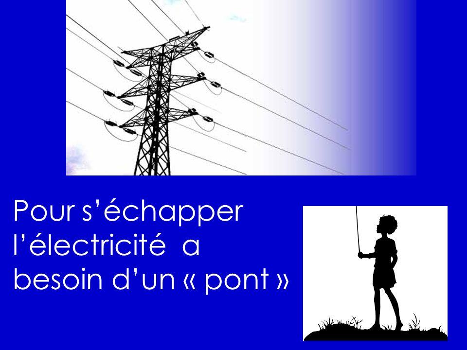 Pour séchapper lélectricité a besoin dun « pont »
