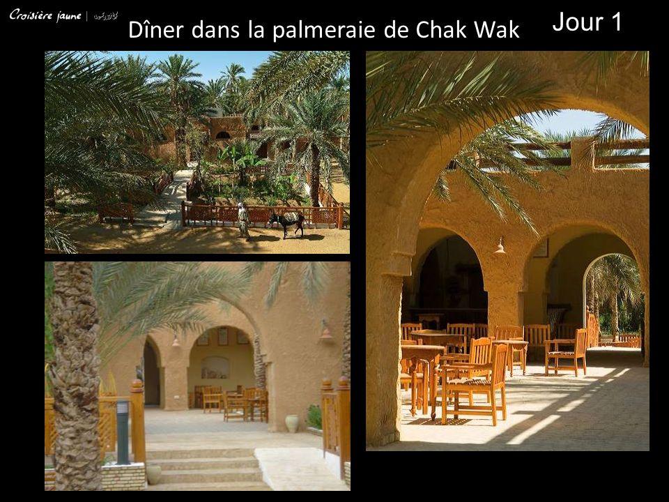Jour 1 Dîner dans la palmeraie de Chak Wak