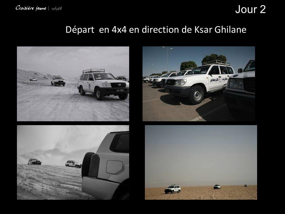 Départ en 4x4 en direction de Ksar Ghilane Jour 2