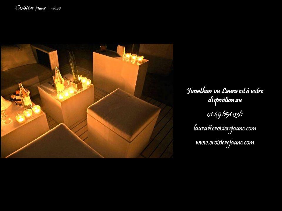 Jonathan ou Laura est à votre disposition au 01 49 651 036 laura@croisierejaune.com www.croisierejaune.com
