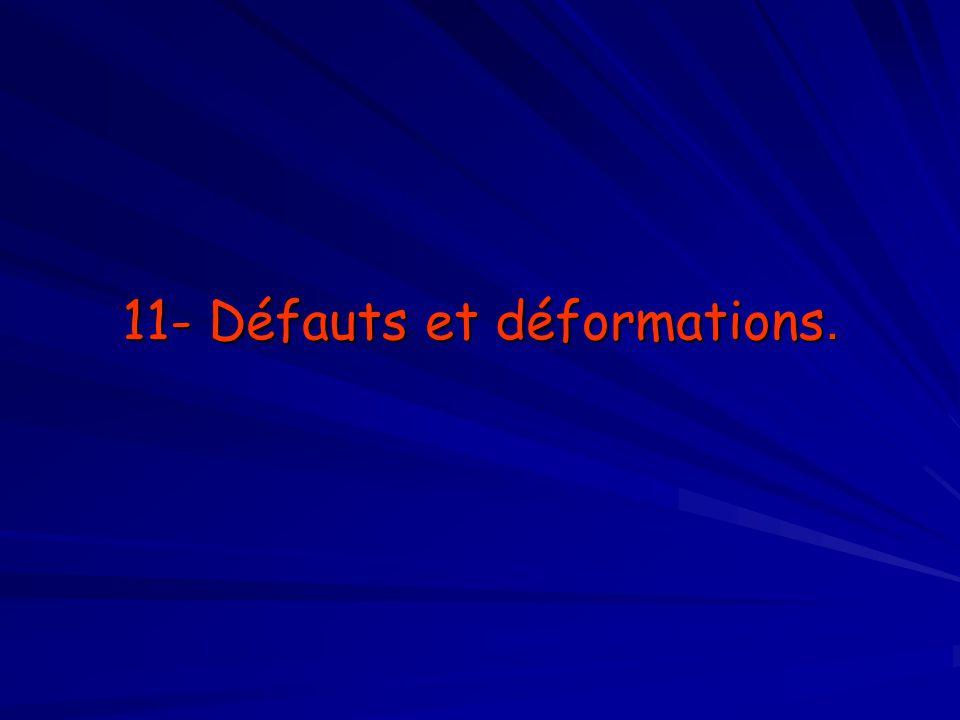 11- Défauts et déformations.