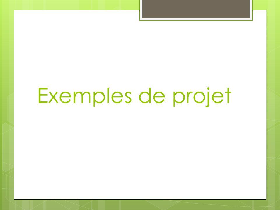 Exemples de projet