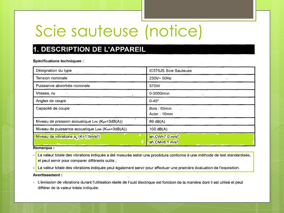 Scie sauteuse (notice)