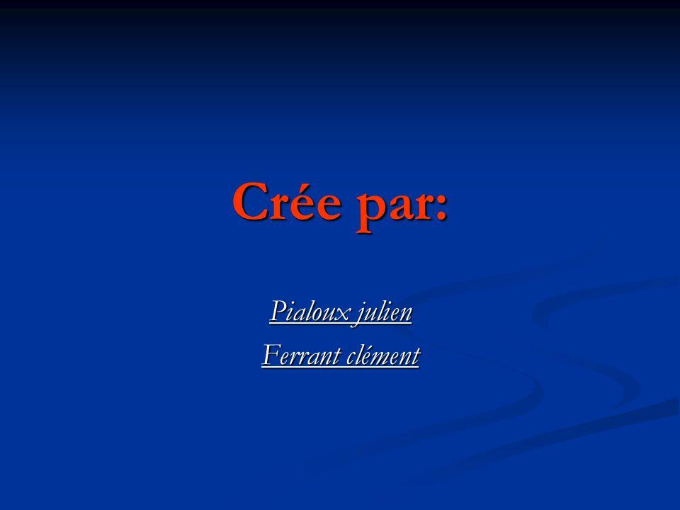 Crée par: Pialoux julien Ferrant clément