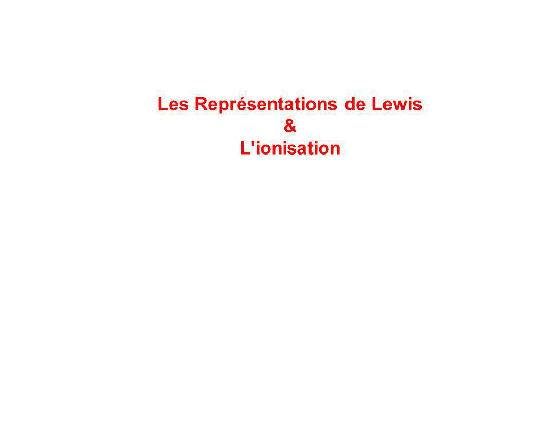 Les Représentations de Lewis & L ionisation