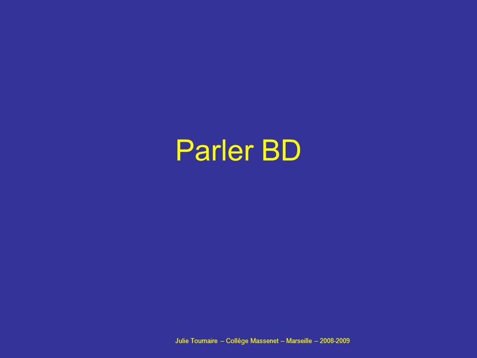 Parler BD Julie Tournaire – Collège Massenet – Marseille – 2008-2009