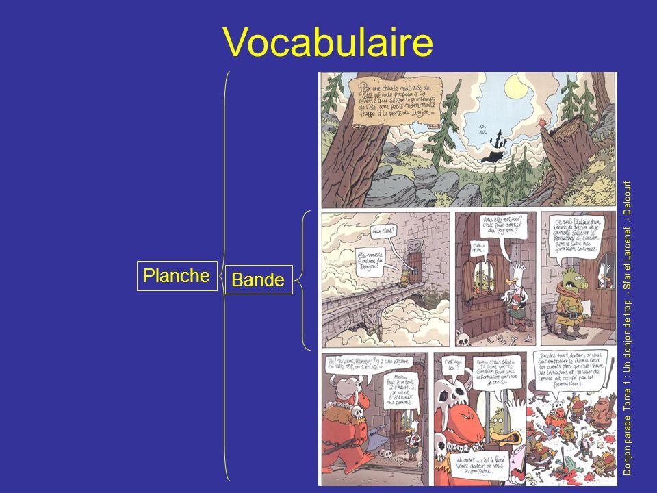 Vocabulaire Donjon parade, Tome 1 : Un donjon de trop.- Sfar et Larcenet.- Delcourt Planche Bande