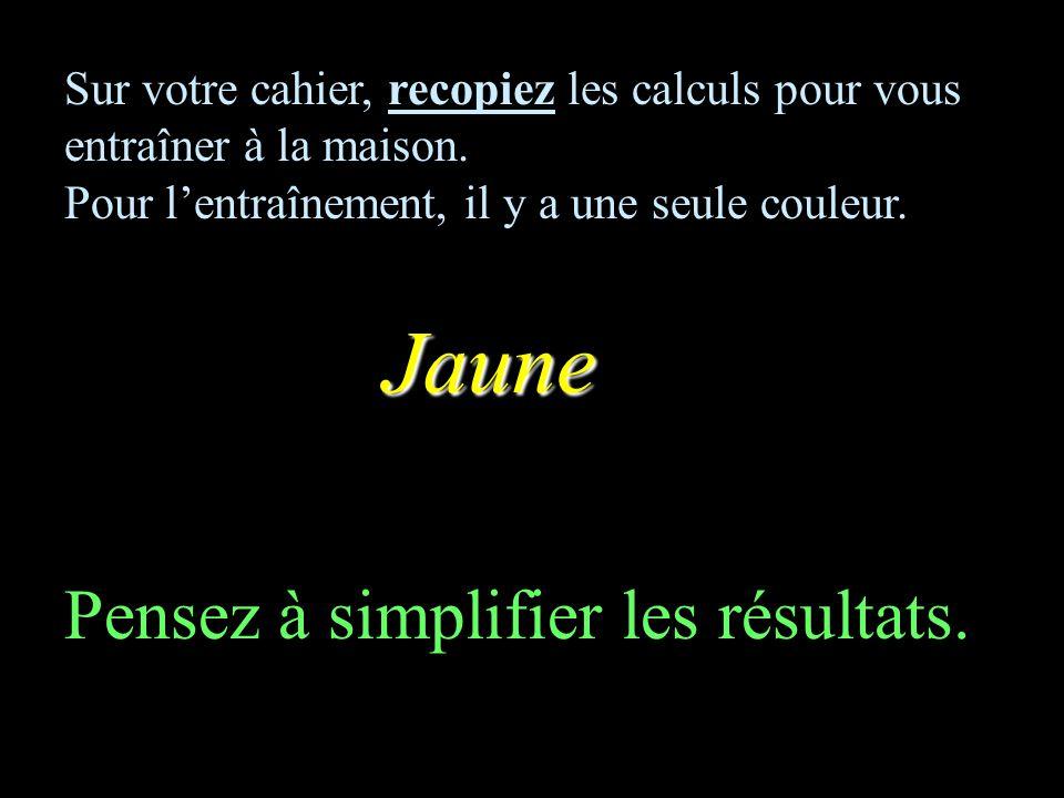 CALCUL MENTAL Mélange de fractions Entraînement Collège F Mauriac