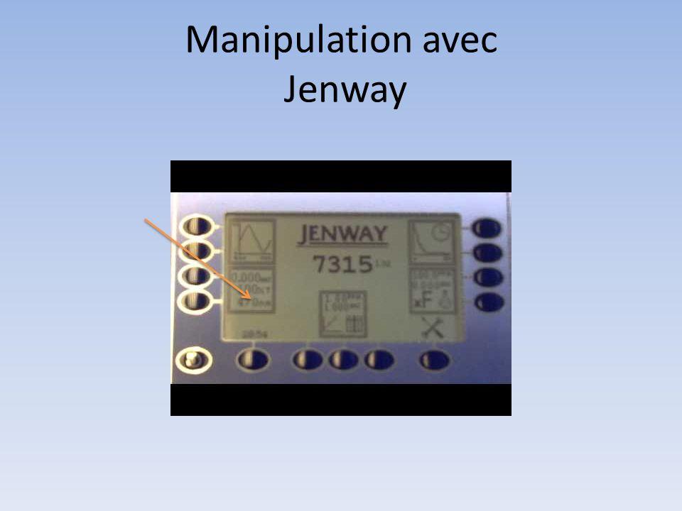 Manipulation avec Jenway