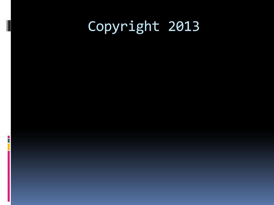 Copyright 2013