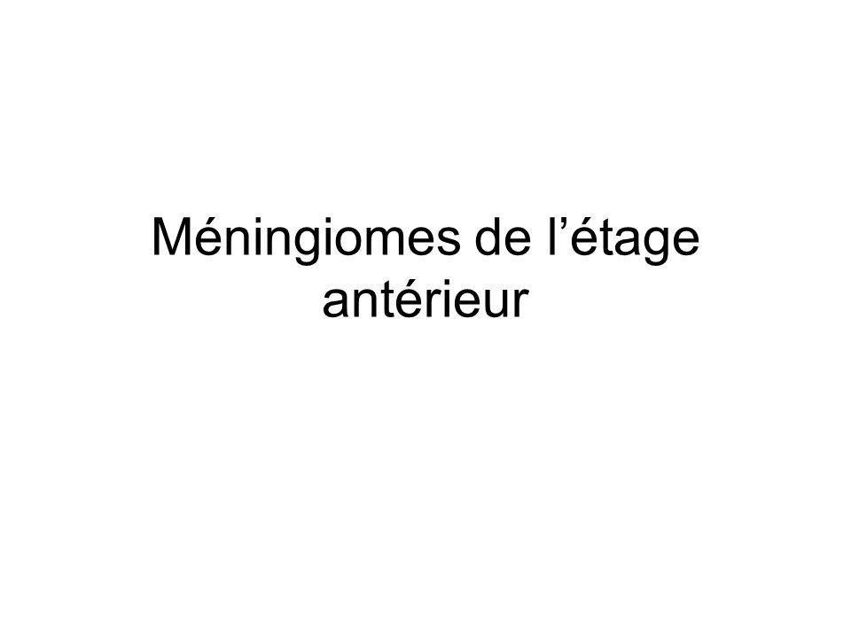 Méningiomes de létage antérieur