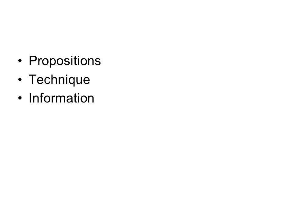 Propositions Technique Information