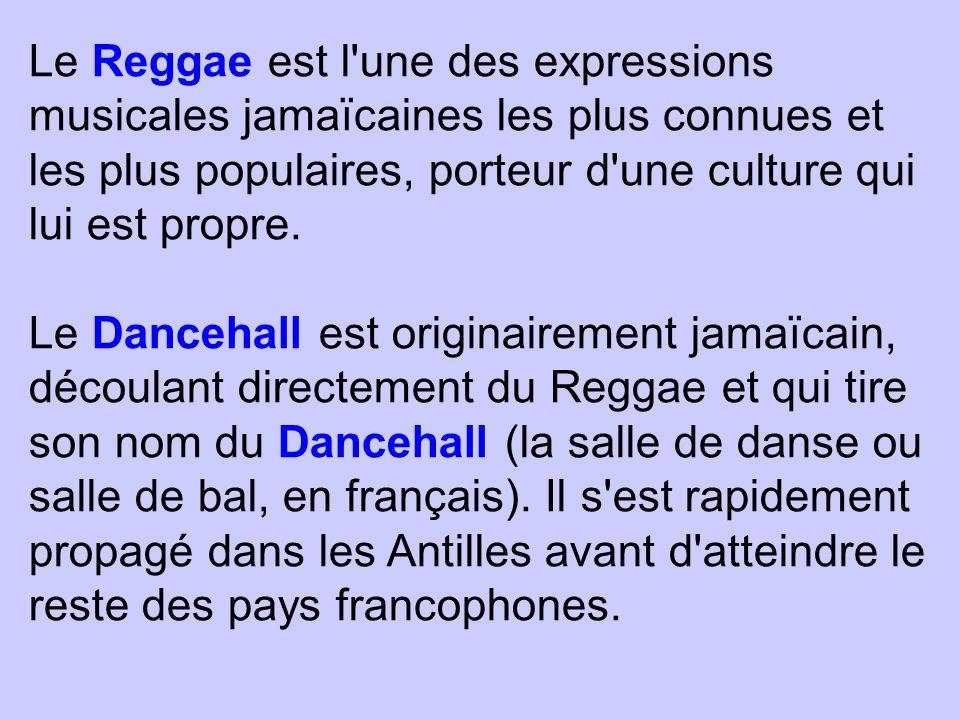 Le Reggae est l'une des expressions musicales jamaïcaines les plus connues et les plus populaires, porteur d'une culture qui lui est propre. Le Danceh