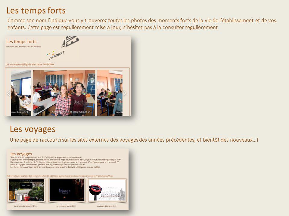 Les activités Une présentation des activités du collège, certaines icones sont des liens, nhésitez pas à cliquer dessus.