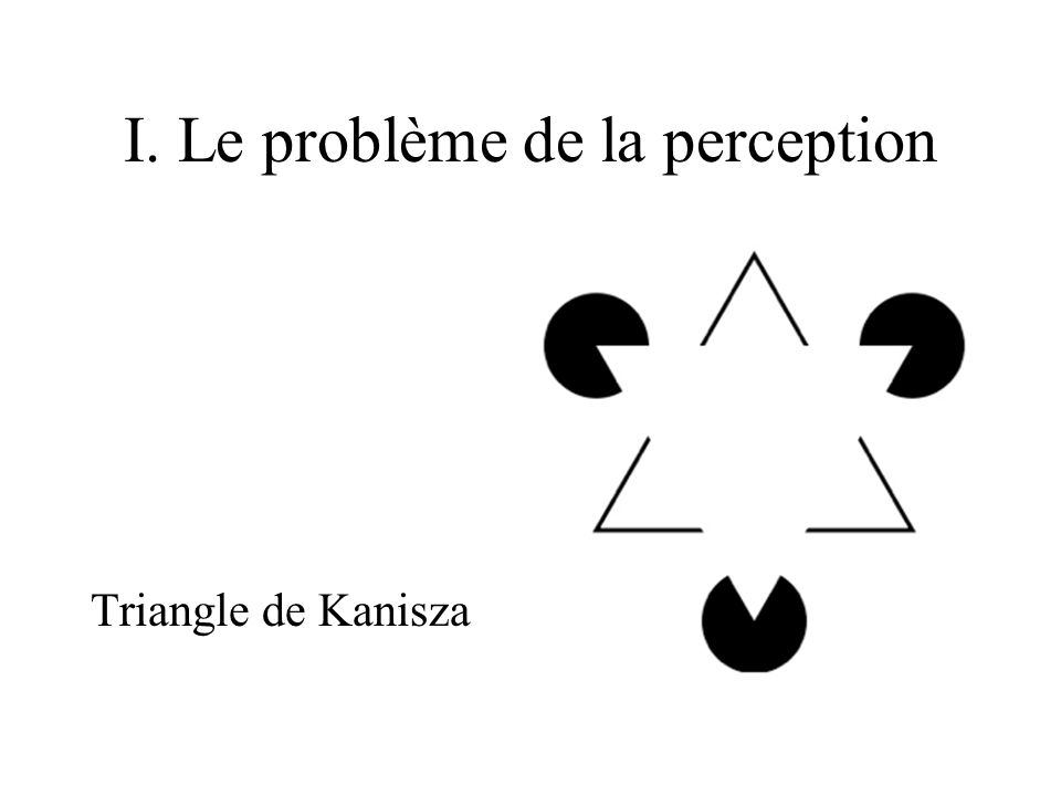 I. Le problème de la perception Triangle de Kanisza