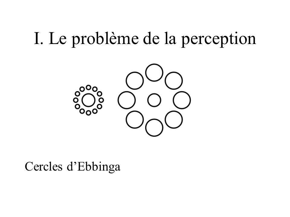 I. Le problème de la perception Cercles dEbbinga