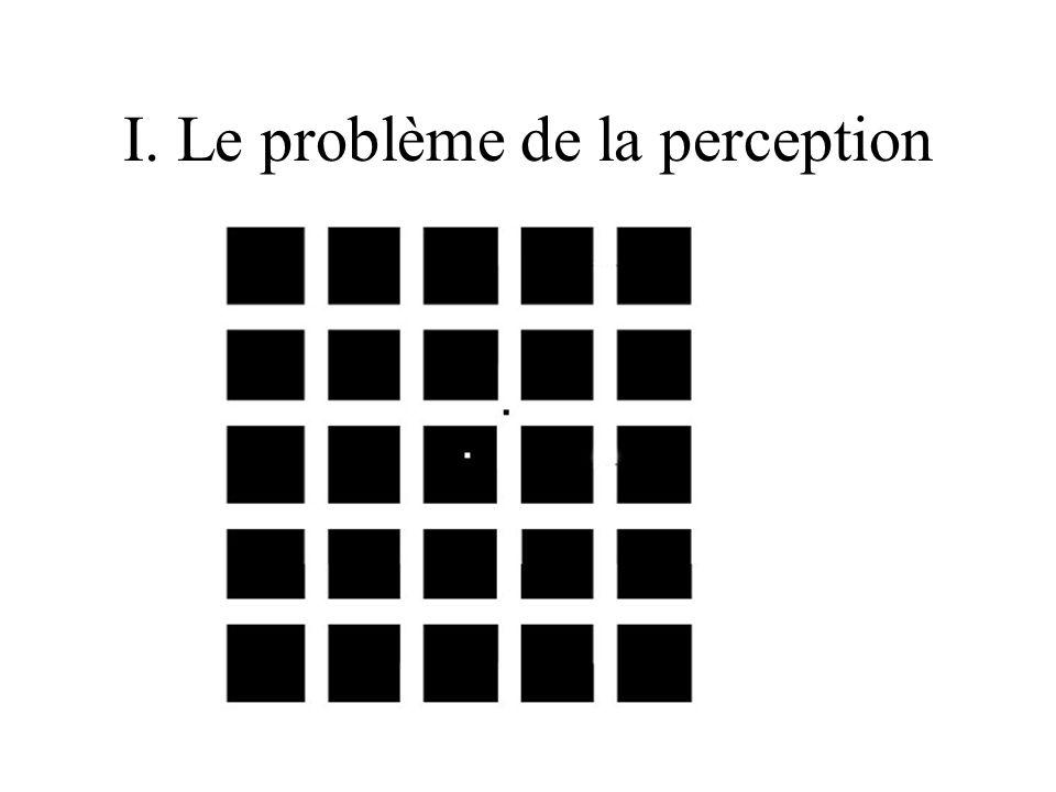 I. Le problème de la perception