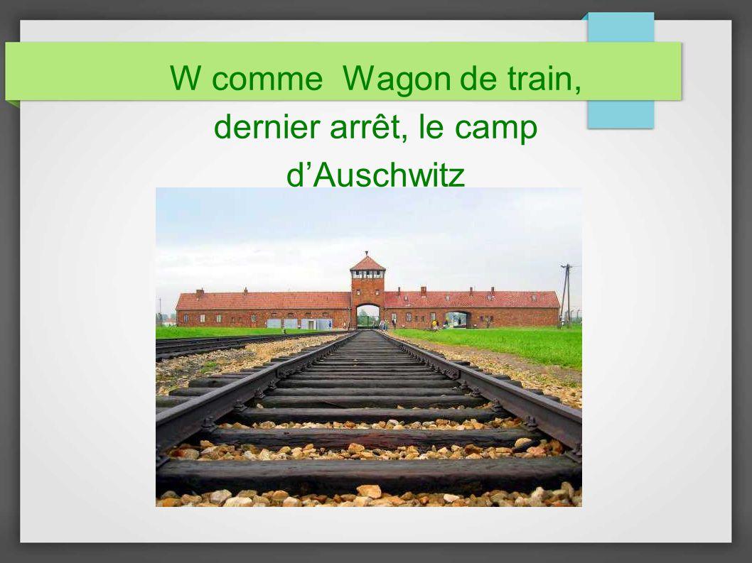 W comme Wagon de train, dernier arrêt, le camp dAuschwitz