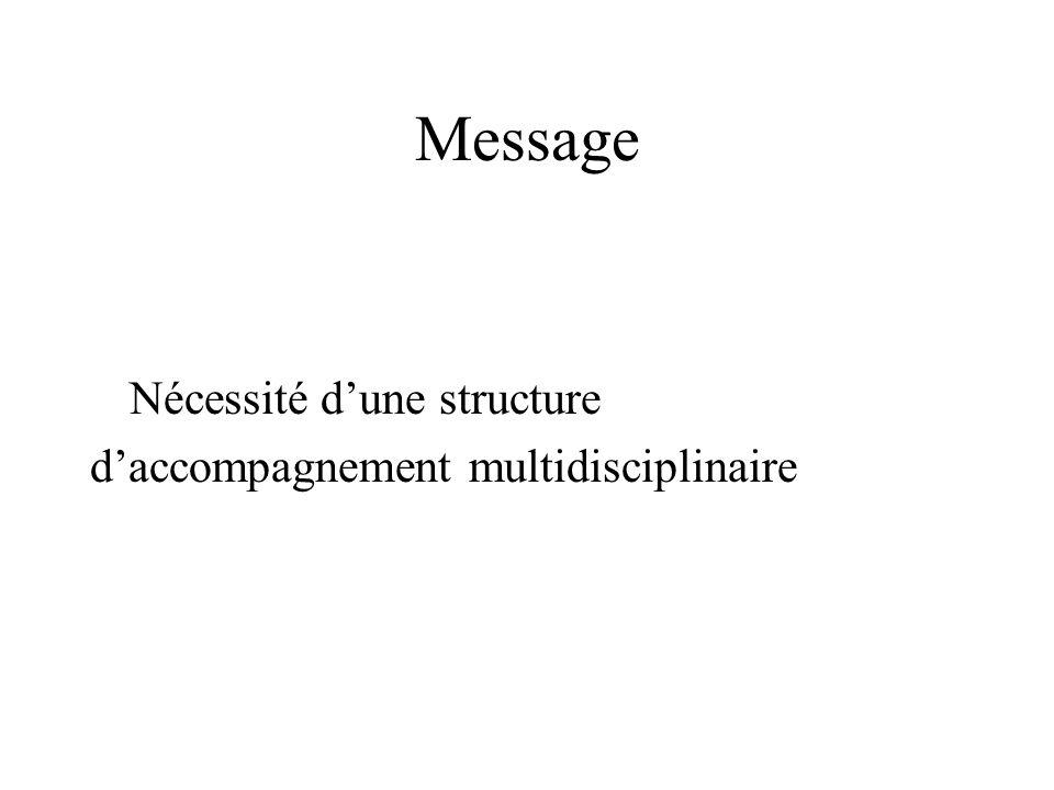 Message Nécessité dune structure daccompagnement multidisciplinaire