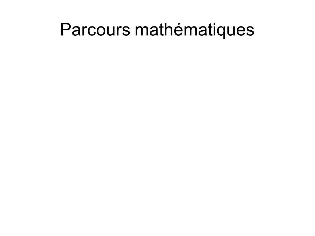 Parcours mathématiques