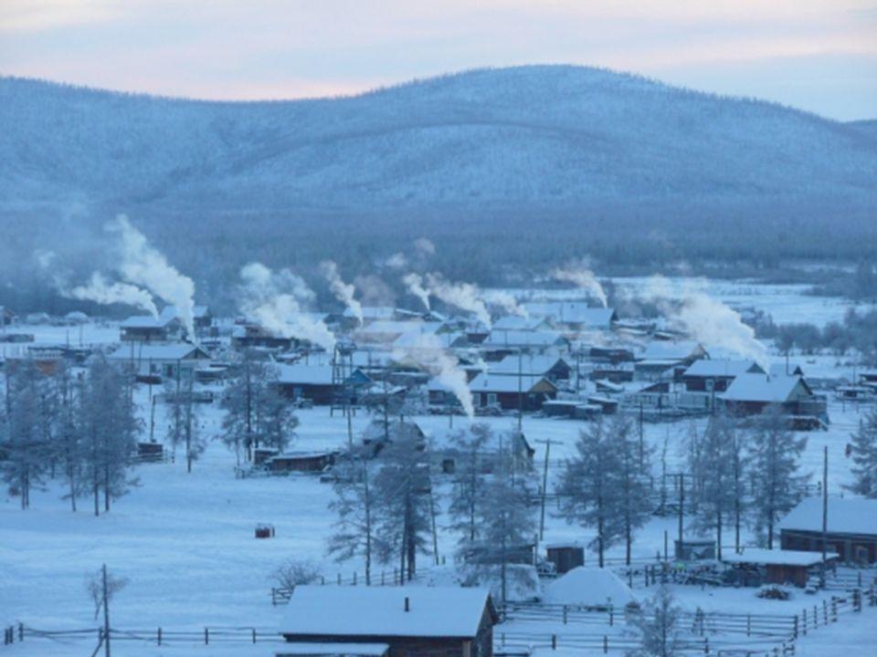 La localité se trouve en Sibérie, dans le nord est de la Russie, sur un plateau situé a 750 mètres au-dessus du niveau de la mer. Son hiver dure 9 moi