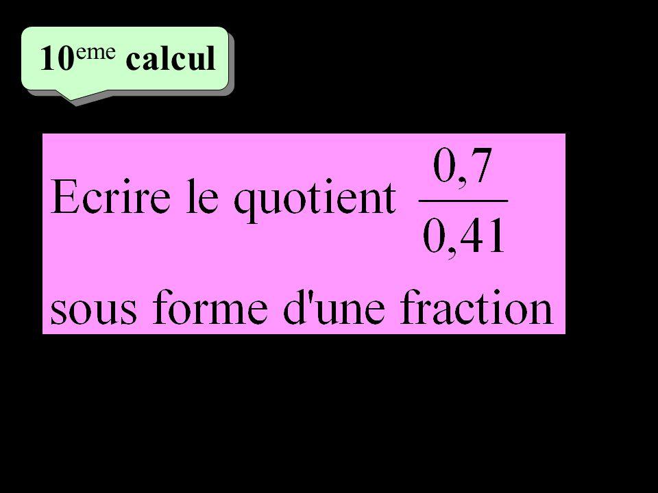 10 eme calcul