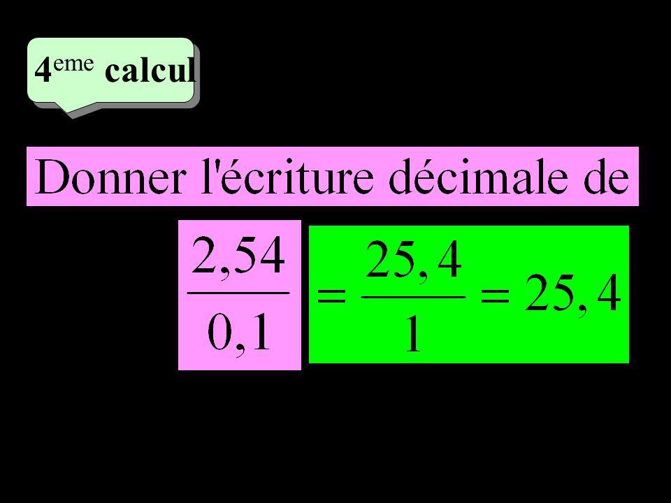 4 eme calcul