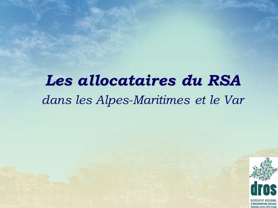 Les allocataires du RSA dans les Alpes-Maritimes et le Var