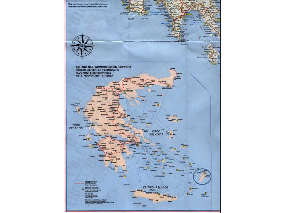 Rhodes fait partie du Dodecanese, un ensemble d iles de la Mer Egee.
