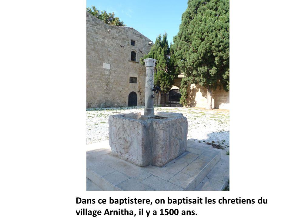 Dans ce baptistere, on baptisait les chretiens du village Arnitha, il y a 1500 ans.