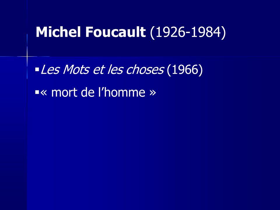 Sartre : Entretien Larc 1966 « Foucault ne nous dit pas ce qui serait le plus intéressant : comment chaque pensée est construite à partir de ces conditions, ni comment les hommes passent d une pensée à une autre.