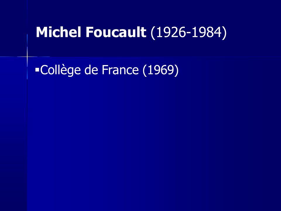 Naissance de la biopolitique Cours Collège de France 1979 néolibéralisme F.