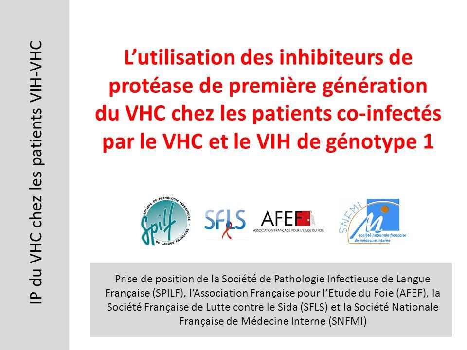 IP du VHC chez les patients VIH-VHC Prise de position de la Société de Pathologie Infectieuse de Langue Française (SPILF), lAssociation Française pour