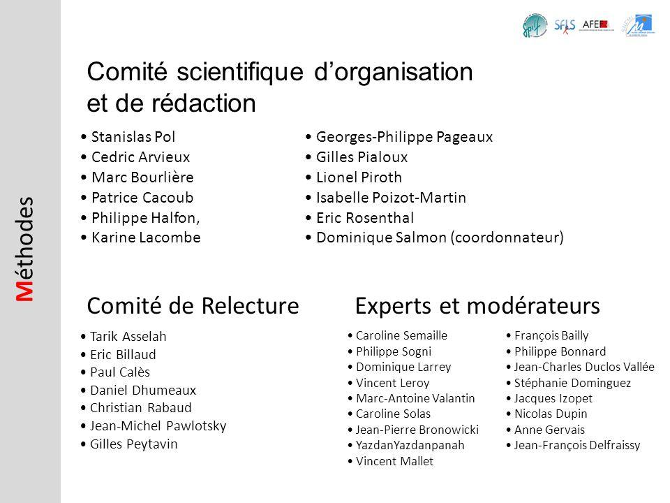 Comité scientifique dorganisation et de rédaction Stanislas Pol Cedric Arvieux Marc Bourlière Patrice Cacoub Philippe Halfon, Karine Lacombe M éthodes