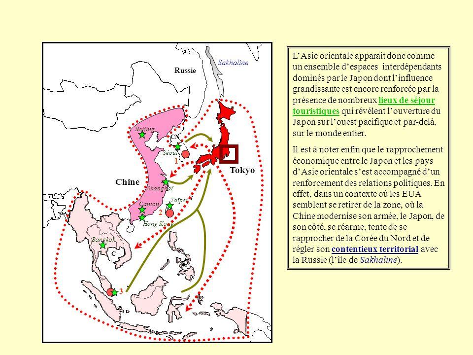 LAsie orientale apparait donc comme un ensemble despaces interdépendants dominés par le Japon dont linfluence grandissante est encore renforcée par la