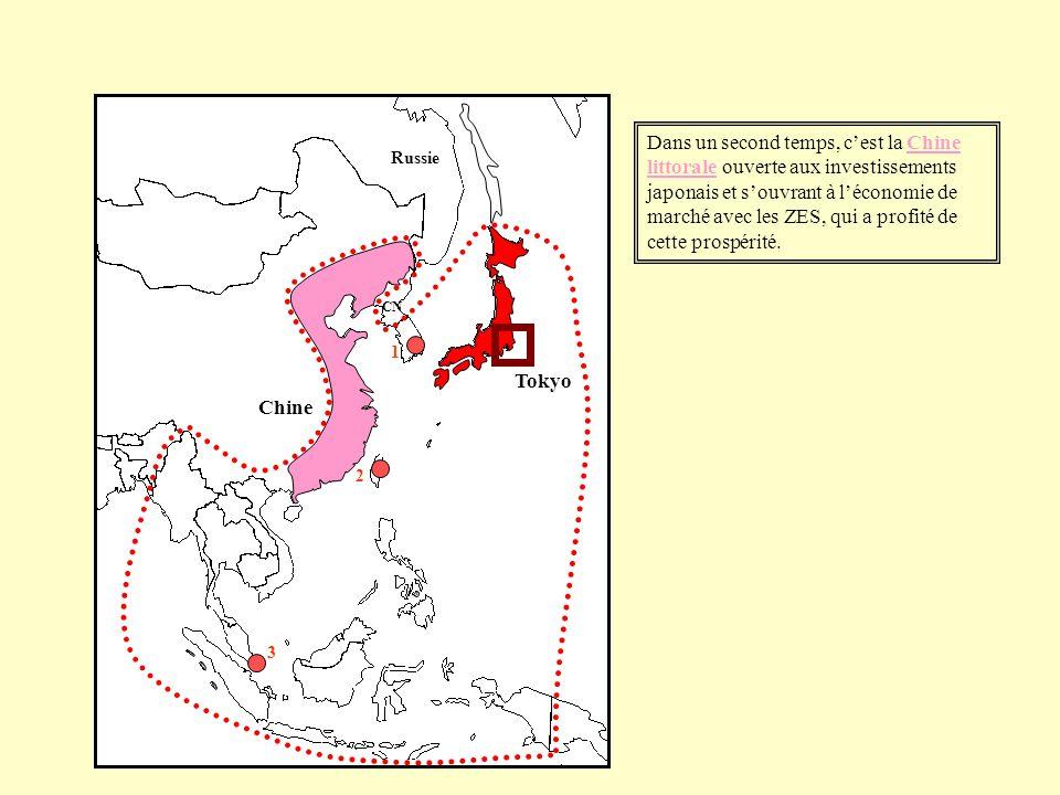 Dans un second temps, cest la Chine littorale ouverte aux investissements japonais et souvrant à léconomie de marché avec les ZES, qui a profité de ce