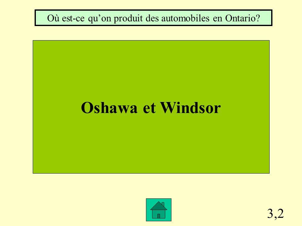3,1 Dans le nord de la province. Où se trouve les mines et les forêts en Ontario