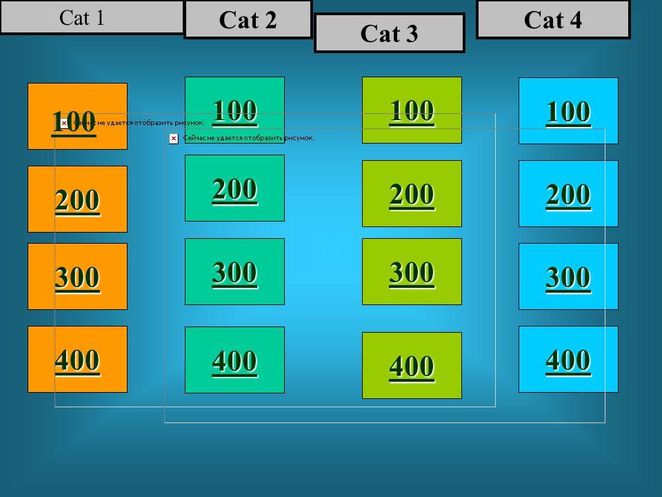 100 200 400 300 400 Cat 1 Cat 2 Cat 3 Cat 4 300 200 400 200 100
